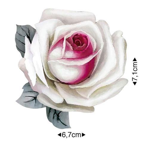 Imagem de APM8-1263 - Aplique Em Papel E MDF - Rosa Branca