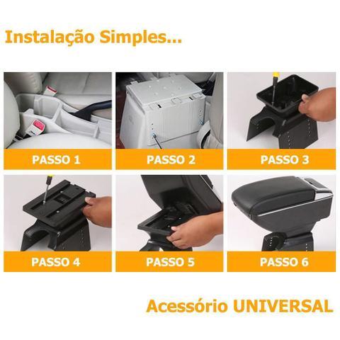 Imagem de Apoio de Braço Universal Com Porta Objetos Preto Ajustável