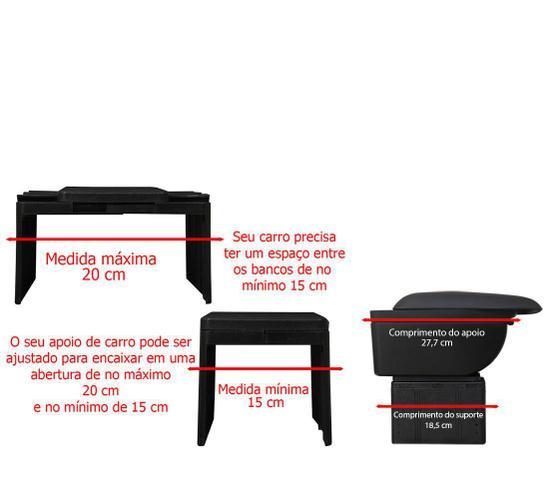 Imagem de Apoio Para Braço Carro Com 4 Usb e Caixa Armazena Porta Objeto Encosto Suporte Universal Preto (bsl-45765-5)