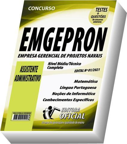 Imagem de Apostila EMGEPRON - Assistente Administrativo