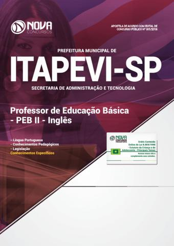 Imagem de Apostila Pref de Itapevi - SP 2019 PEB II - Inglês