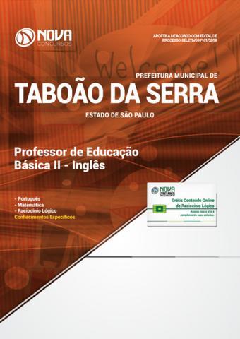 Imagem de Apostila Pref de Taboão da Serra SP 2019 PEB II Inglês
