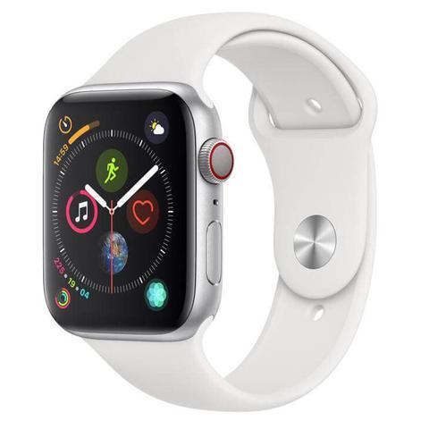 Smartwatch Apple Watch Series 4 44mm - Pulseira Esportiva - Branco/prata
