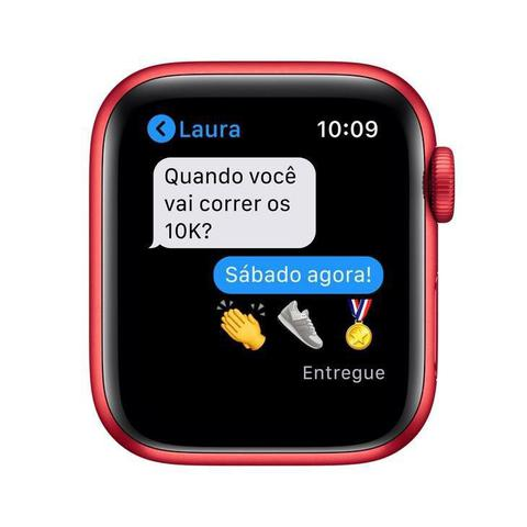 Imagem de Apple Watch Series 6 Cellular + GPS, 44 mm, (PRODUCT)RED, Puls. Esportiva (PRODUCT)RED  M09C3BE/A
