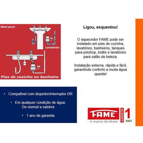 Imagem de Aquecedor de Água Fame Elétrico 2 temperaturas para Pia/Lavatório/Salão de Beleza/Pet Shop Clima Frio 5400w 220v