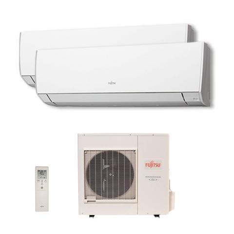 Imagem de Ar Condicionado Multi Split Bi Inverter Fujitsu 1x9000   1x12000 Btus Qf 220v 1F AOBG18LAC2