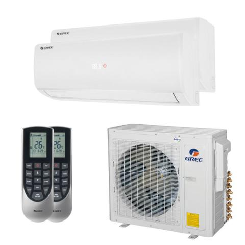 Imagem de Ar Condicionado Multi Split Inverter Bi Split Gree 24000 BTUs (2x12000) Quente e Frio 220V GWHD24ND3GO