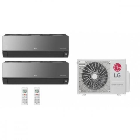 Imagem de Ar Condicionado Multi Split Inverter LG ARTCOOL SMART 18000 BTUs 2x Evap 9000 Quente Frio AMNW09GSJR0  220V