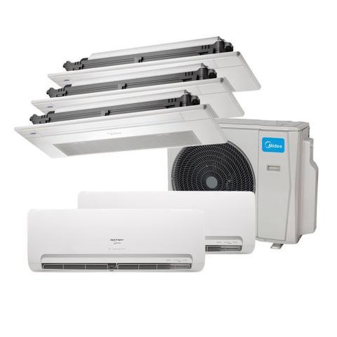 Imagem de Ar Condicionado Multi Split Inverter Springer Midea 9000 e 12000 e Cassete 1 Via 2x9000 e 12000 BTU/h Quente e Frio 38MBPA42M5  220 Volts