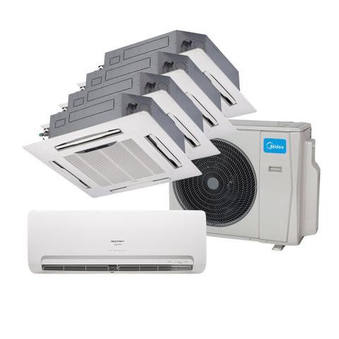 Imagem de Ar Condicionado Multi Split Inverter Springer Midea 9000 e Cassete 4 Vias 2x9000 e 12000 e 18000 BTU/h Quente e Frio 38MBPA42M5  220 Volts