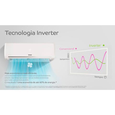 Imagem de Ar condicionado split inverter 18000 btus Consul  quente e frio maxi refrigeração e maxi economia - CBJ18EBBCJ