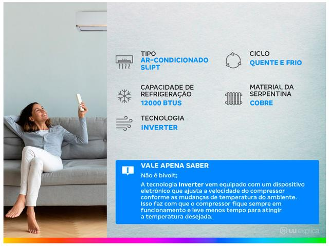 Imagem de Ar-condicionado Split Samsung Inverter 12.000 BTUs