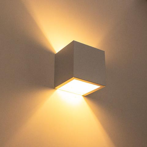 Imagem de Arandela 2 Fachos Slim Branca Luminária Externa ou Interna St397