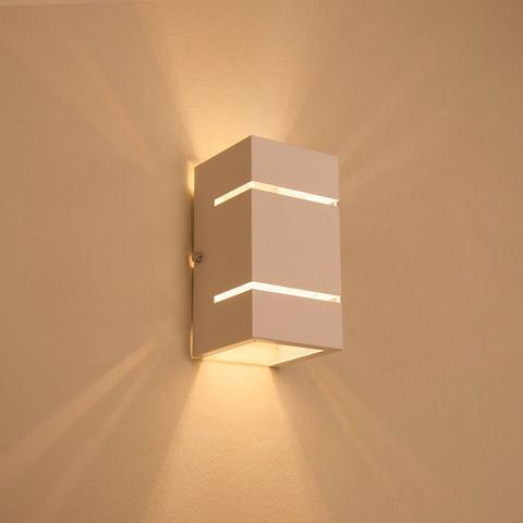 Imagem de Arandela 2 Focos Com Frisos E Fachos Externa Parede Muro
