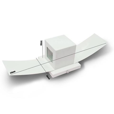 Imagem de Arandela Box Com Aba 2 Focos Muro Parede