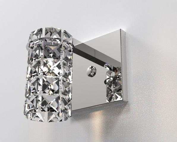 Imagem de Arandela de Cristal Legitimo Quarto Sala Escada Corredor Lavabo Espelho Painel Cabeceira De Cama Living Hall Entrada AR815