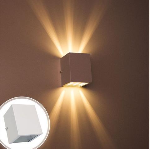 Imagem de Arandela de efeito 6 fachos branca luminária externa e interna st566