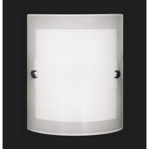 Imagem de Arandela de Vidro Calha Quadriculada Auremar Branco