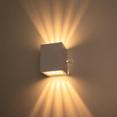 Imagem de Arandela Efeito 10 Fachos Alumínio Interna / Externa Branca St910
