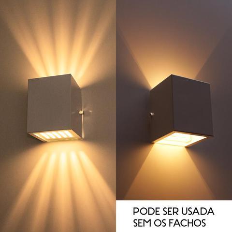 Imagem de Arandela Efeito 10 Fachos Alumínio Interna / Externa Marrom St910