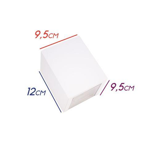 Imagem de Arandela Efeito 2 Focos Branco Sem Friso Box Policarbonato St1386