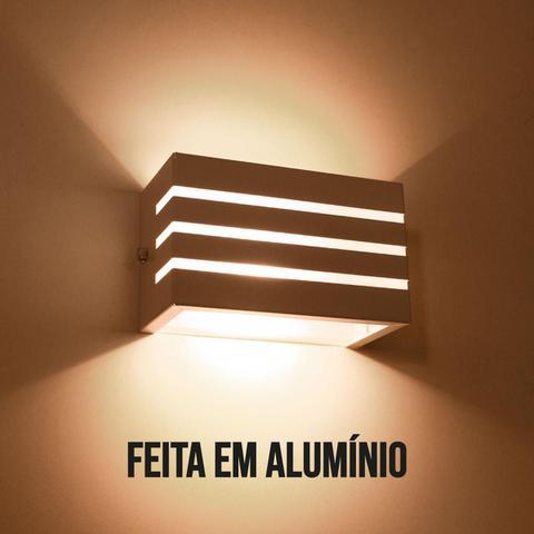 Imagem de Arandela Frisada luminária preta para muro parede externa G9 ST548