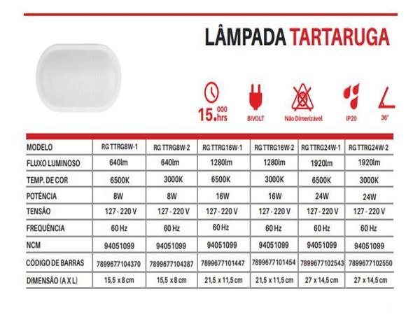 Imagem de Arandela led tartaruga 8w branco quente 3000k bivolt