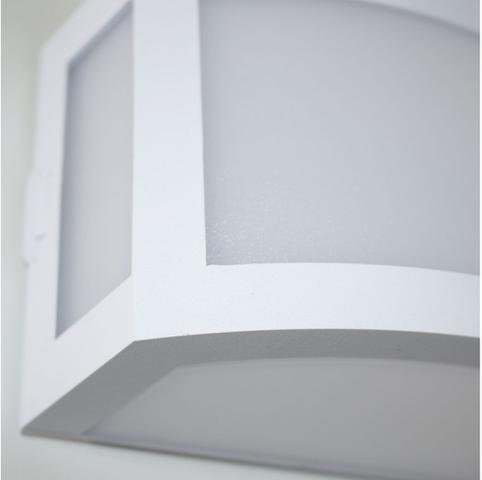 Imagem de Arandela Maresia Em Policarbonato Super Resistente Branca ST789