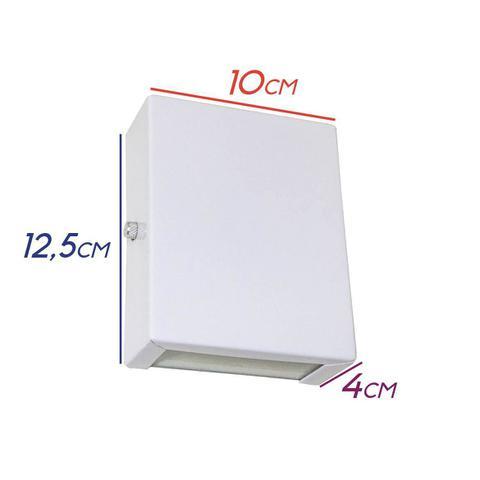 Imagem de Arandela Slim 2 Focos Branca Parede Muro Interna Externa St1597