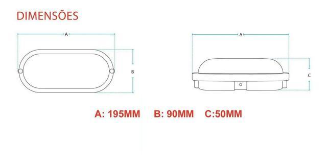 Imagem de Arandela Tartaruga Led Avant Branca 5w Hummer com Lampada Branco Frio 6500k