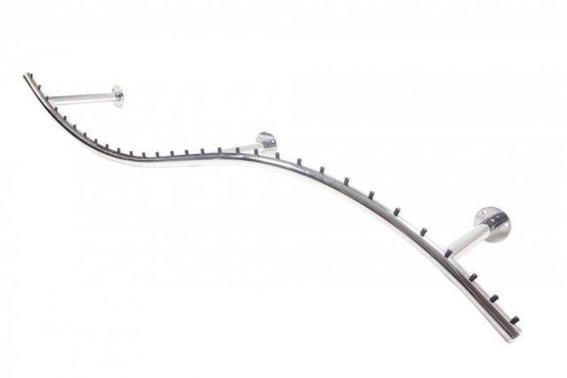 Imagem de Arara de parede Comac modelo Onda tamanho 165 cm cromado