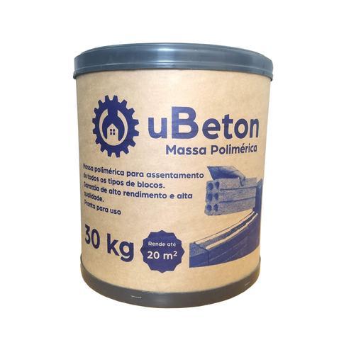 Imagem de Argamassa Polimérica Cola Bloco/tijolo - Barrica 30kg - 3 unid (90 kg) uBeton