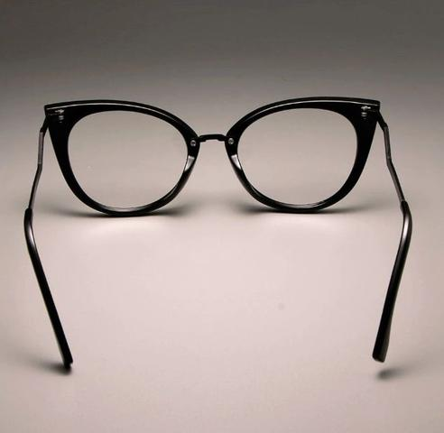 Imagem de Armação de Óculos Feminina Estilo Gatinho - Cor Preta ou Vermelha