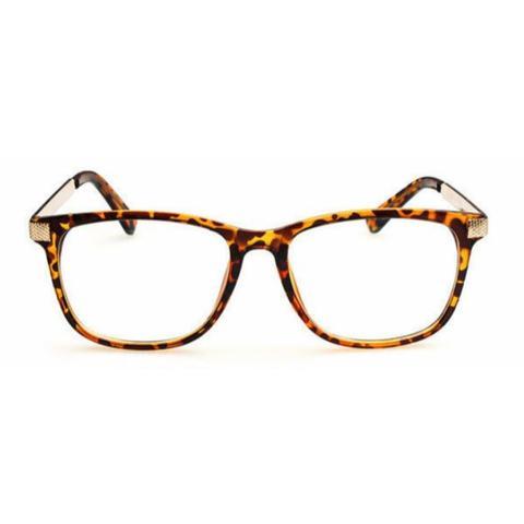 Imagem de Armação de Óculos para Grau Feminina Quadrada Leopardo