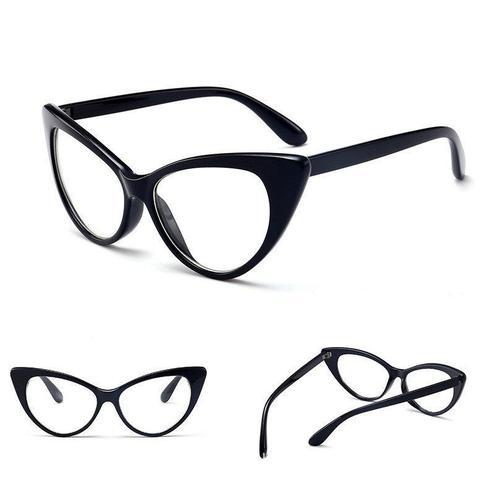 Imagem de Armação Gatinho Retrô Óculos de Grau Transparente ou Preto