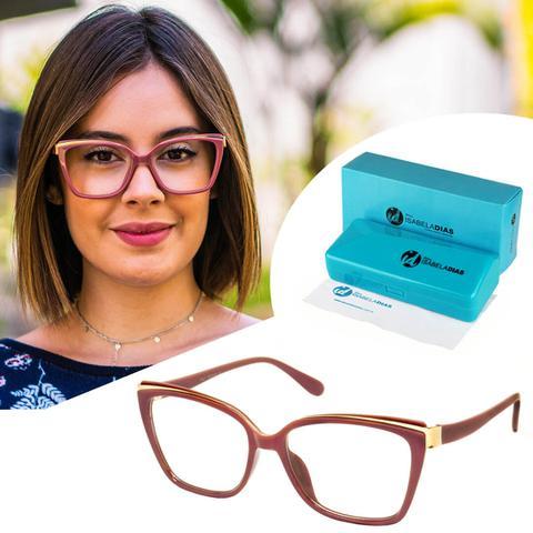 Imagem de Armação Óculos De Grau Feminino Quadrado Retrô 5575
