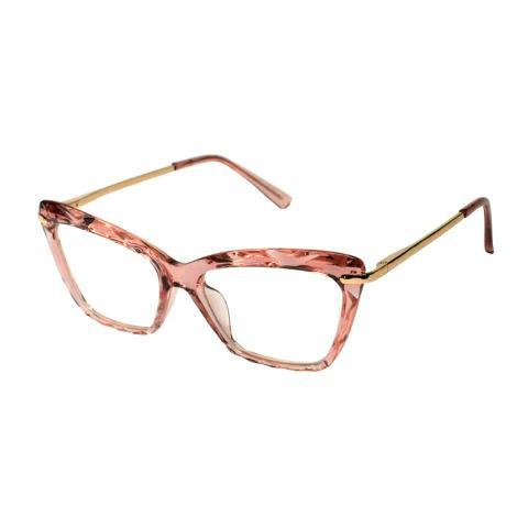 Imagem de Armação Óculos Grau Feminino Retrô Original Rosa 5546