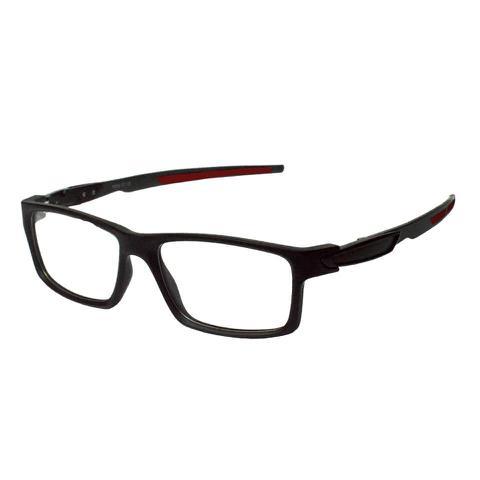 Imagem de Armação Óculos Grau Masculino Esportivo Izaker Preto 3499