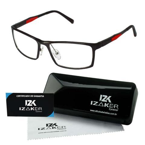 Imagem de Armação Óculos Grau Masculino Esportivo Original Izaker 213