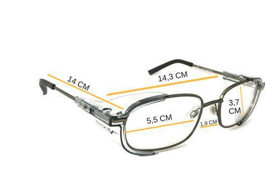4309c054f Armação Óculos Segurança P/ Lente De Grau Univet 536 Epi - Óculos de ...