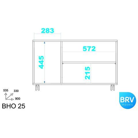 Imagem de Armário 3 Portas BHO25 - BRV Móveis
