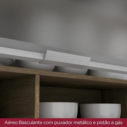 Imagem de Armário Aéreo Cozinha 1 Porta Basculante Vidro Integra Rústico