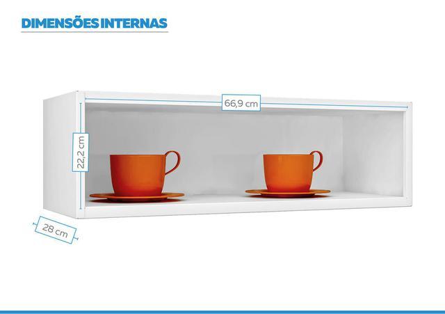 Imagem de Armário Aéreo Cozinhas Itatiaia Luce - 1 Porta Horizontal - Branco
