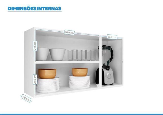 Imagem de Armario Aéreo Cozinhas Itatiaia Luce - 3 Portas - Preto