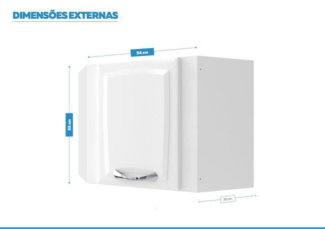 Imagem de Armário Aéreo de Ângulo Cozinhas Itatiaia Premium - 1 Porta - Branco