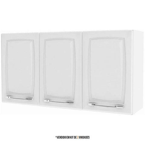 Imagem de Armario Aereo Itatiaia Criativa Kit com 2 peças modelo IP3-105 Branco