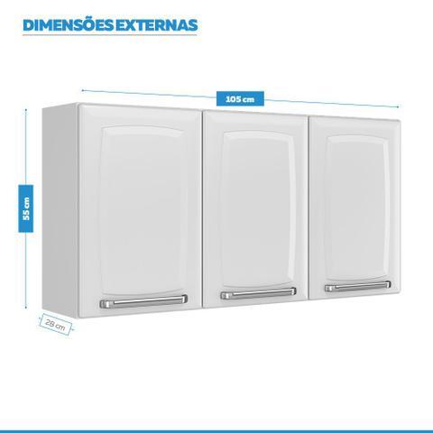 Imagem de Armario Aereo Itatiaia Luce 3 Portas Branco + Furadeira Philco Azul