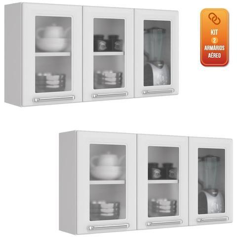 Imagem de Armario Aereo Itatiaia Luce Kit com 2 peças modelo IPV3-105 Branco