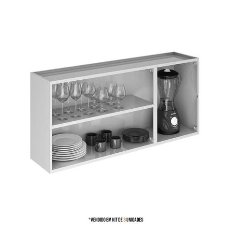 Imagem de Armario Aereo Itatiaia Luce Kit com 3 peças modelo IP3-105 Branco