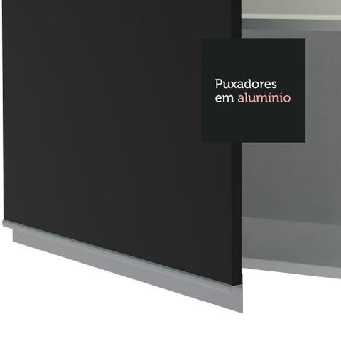 Imagem de Armário Aéreo Madesa Glamy 60 cm 1 Porta - Branco/Preto